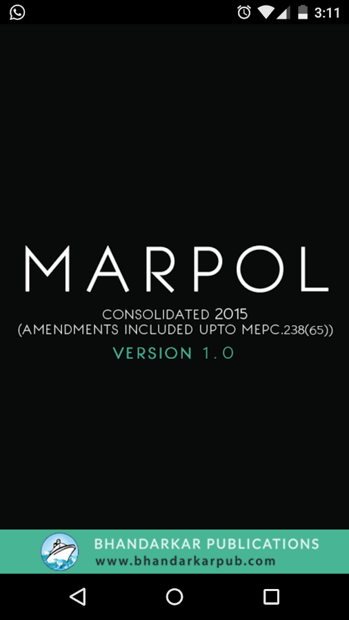 MARPOL 73/78 Consolidated 2017- screenshot
