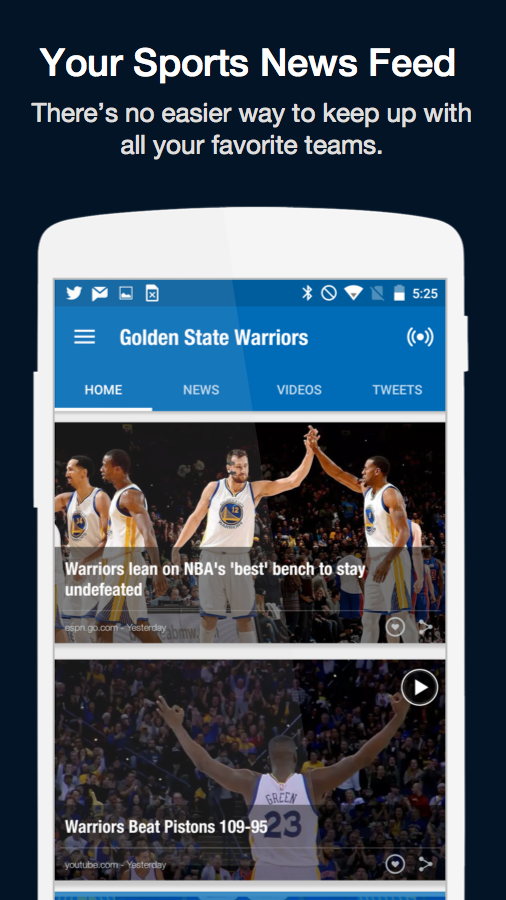 Fanly - Your Sports News Feed- screenshot