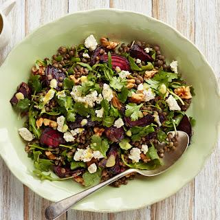 Lentil, Beetroot & Feta Salad.