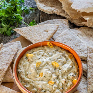 Three Cheese and Mushroom Dip