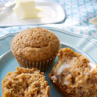 Healthy Banana Applesauce Muffins.
