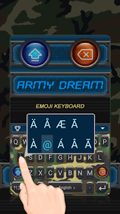 Army Dream Theme&Emoji Keyboard - náhled