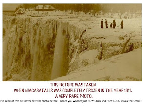 Photo: Niagara Falls Completely Frozen Over in 1911 #photo