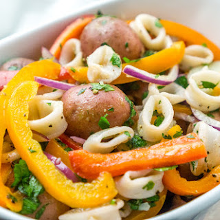 Spanish Style Calamari Potato Salad.
