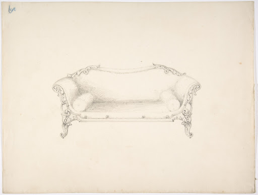 Design for a Sofa with Foliate Ornament
