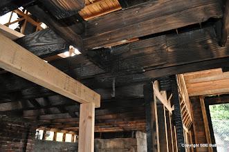 Photo: Temporary 4x6 shoring to replace 6x6 girder.