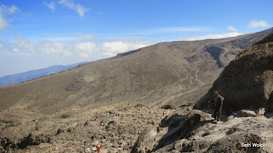 Photo: Top of the Barranco Wall (4,219m, 13,842ft), - a scramble down and then up the opposite valley!