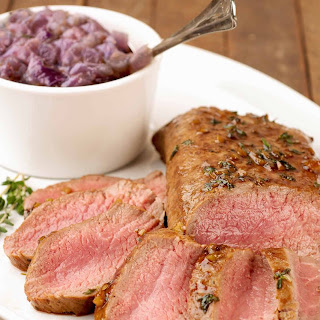 Guinness Glazed Lamb with Red Onion Jam.
