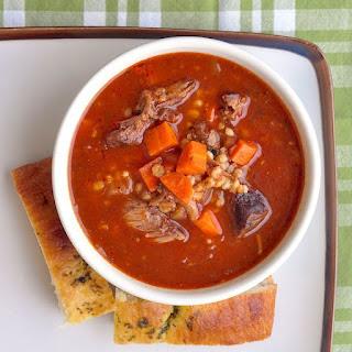 Braised Shortrib Beef Barley Soup.