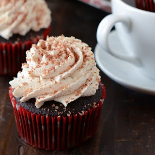 Mexican Chocolate Cupcakes with Cayenne Spiced Whipped Cream
