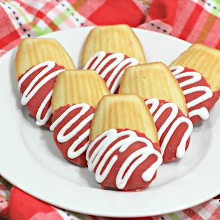 Chocolate Covered Madeleine Cookies.