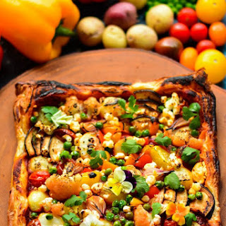 Savoury Veggie Puff Tart