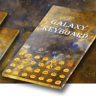 Yellow Keyboard For Galaxy J7 - náhled