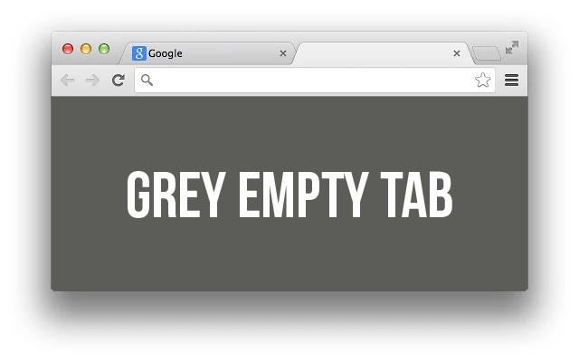 Empty New Tab Page - Dark Grey