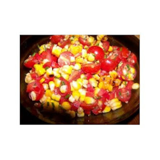 Smoky Grilled Corn Salad With Cherry Tomatoes and Red Pepper