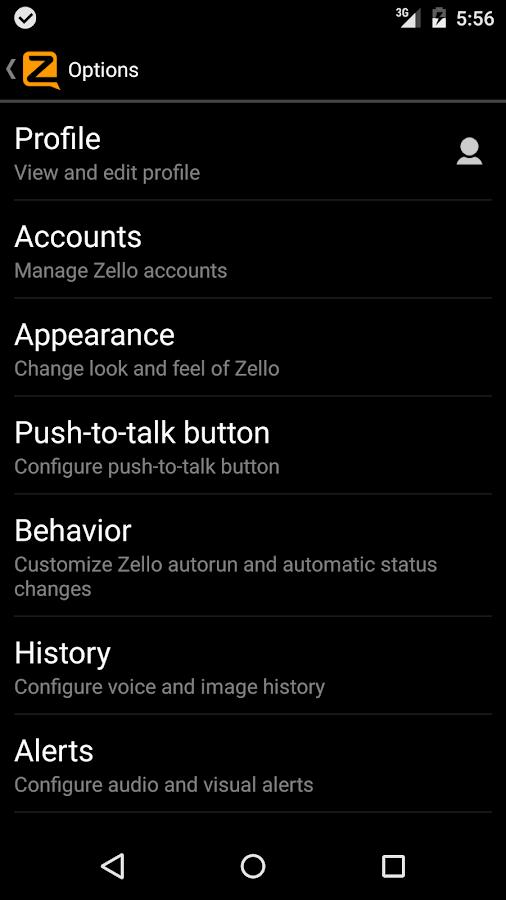 Zello PTT Walkie-Talkie - screenshot
