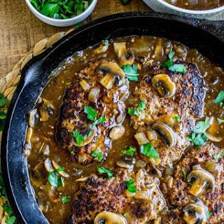 Salisbury Steak with Mushroom Sauce.