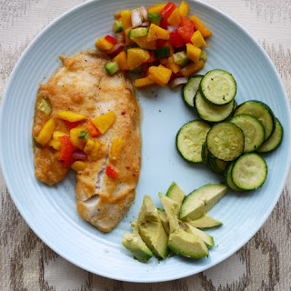 Sweet Orange Tilapia with Mango Salsa (paleo)
