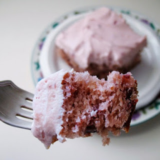Cherry Cake with Cherry Cream Cheese Frosting