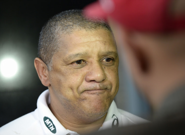 Allister Coetzee at OR Tambo International Airport on December 04, 2017 in Johannesburg.