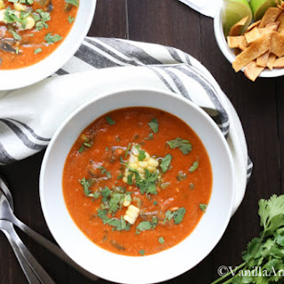 Tortilla Soup with Roasted Pablanos