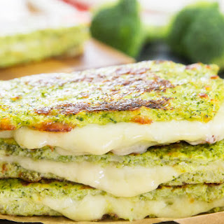 Broccoli Bread Grilled Cheese Sandwiches.