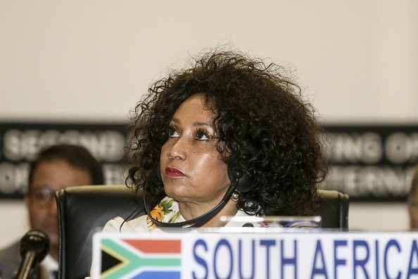 South Africa's Foreign Minister Lindiwe Sisulu .