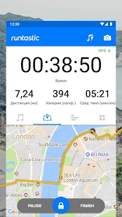 Runtastic - GPS трекер для бега и фитнеса Screenshot