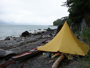 Photo: My campsite three miles south of Point Sherman looking north up Lynn canal.