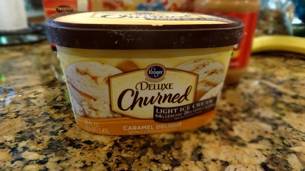 MAKE THE FILLING  I use Kroger Caramel Delight ice cream.  It is 64% less...