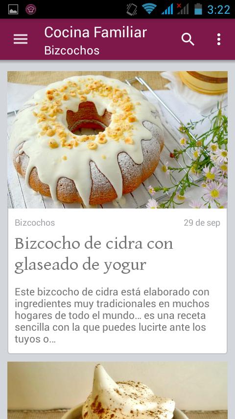 Cocina familiar recetas android apps on google play - Recets de cocina ...