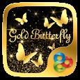 GoldButterflyGO Launcher Theme apk