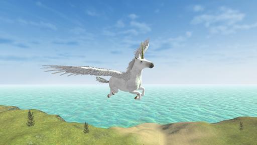 Flying Unicorn Simulator Free screenshot 1
