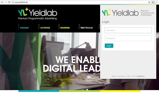 Yieldlab Toolbar