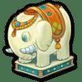白ゾウの彫像
