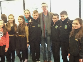 Photo: Ryan Tubridy gets to meet the Bornacoola Figure Dancers!