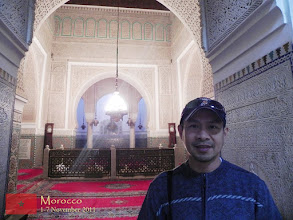Photo: at the tomb of Moulay Ismaïl in Meknes