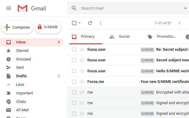 FossaGuard: Encrypt Gmail with S/MIME