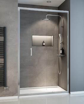 Porte de douche coulissante, 120 cm