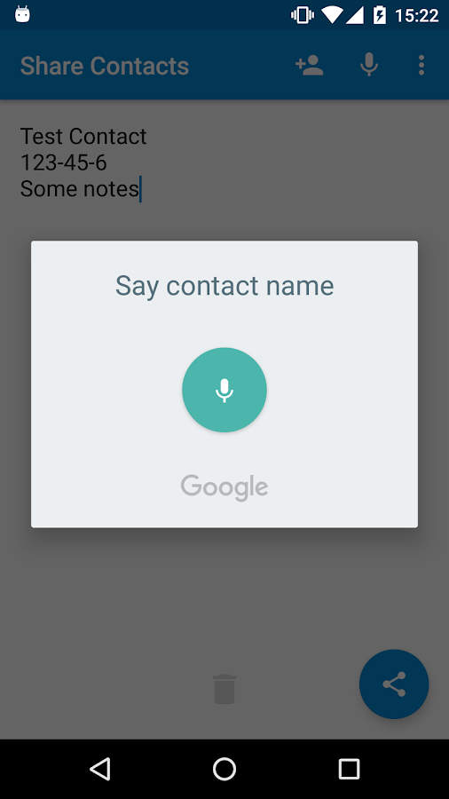 Share Contacts- screenshot