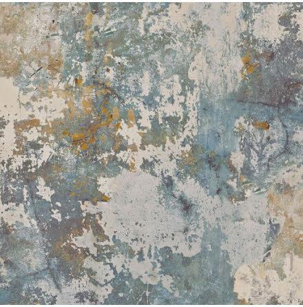 GranDeco Tempera EP3001 Tapet med rustik betongvägg och patina, Blå/Grön/Beige