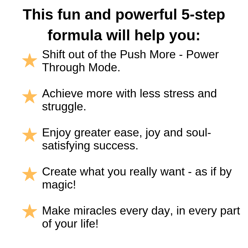 The Miracle Maker's Chi Power Quick Shift Formula