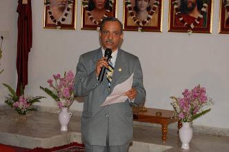 Photo: Vinod Tailang Introducing Swami Ji to Press