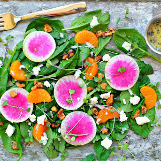 Watermelon Radish Salad with Lemon Chia Seed Vinaigrette