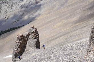 Photo: 2015 - Traversing the west side to the saddle/ridge (NE shoulder).