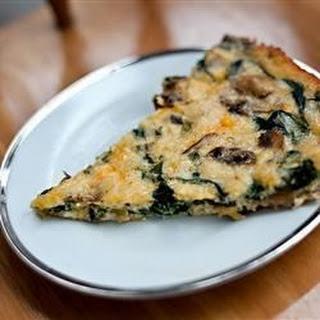 Crustless Spinach and Mushroom Quiche.