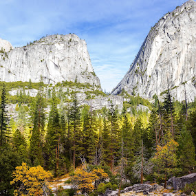 Yosemite in Fall by Anatoliy Kosterev - Landscapes Mountains & Hills ( national park, rocks, nature, autumn, landscape )