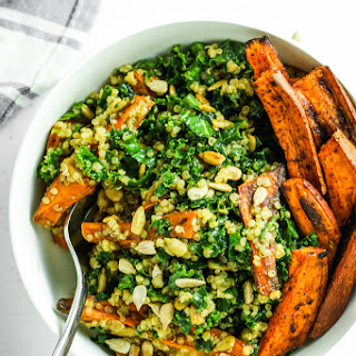 Sweet Potato Quinoa Kale Salad.