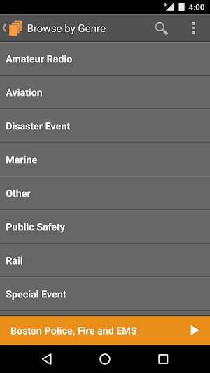 4 Scanner Radio App screenshot