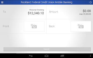 Screenshot of RFCU Mobile Banking